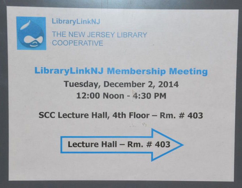 LibraryLinkNJ Meeting Sign