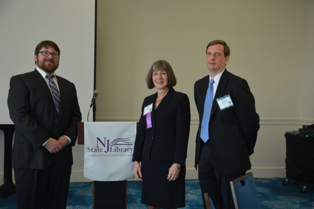 (from left) Robert Grimmie, LWD Executive Director, Mary Chute, NJ State Librarian, and LWD Deputy Labor Commissioner, Aaron Fichtner.