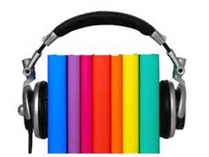 Photo of books surrounded by headphones