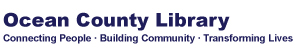 Logo of the Ocean County Library that says connecting people, building community, transforming lives