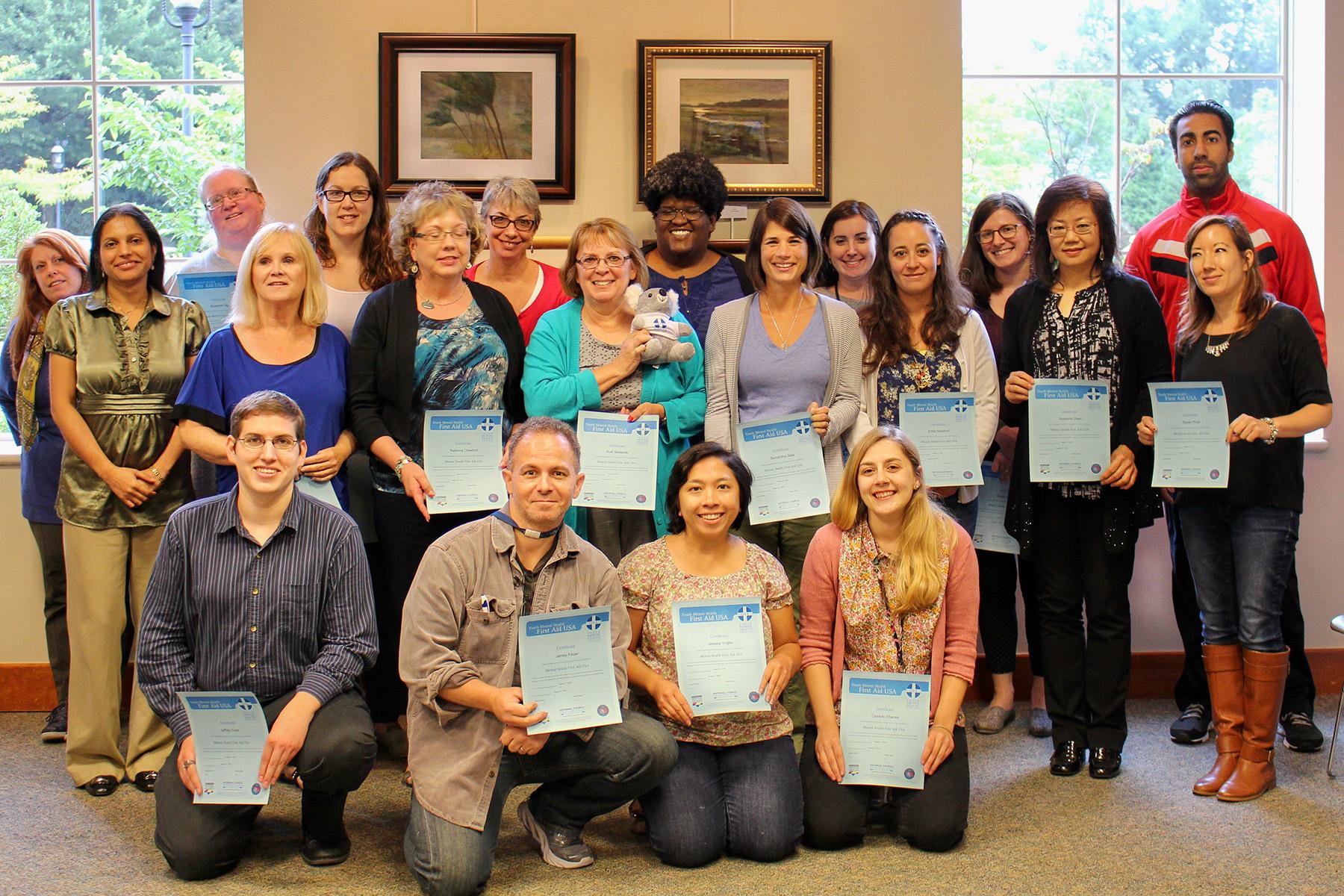 Class certificates Bernardsville August 11 2015