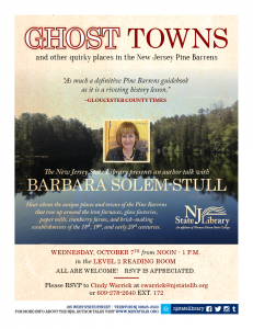 Ghost Towns and quirky places in the New Jersey Pine Barrens-October 7, 2015