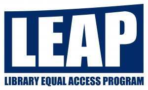 This is the logo for the Library Equal Access Program