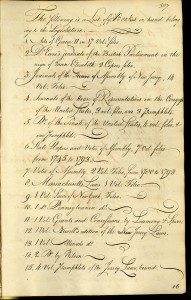 Votes and Proceedings 18 March 1796