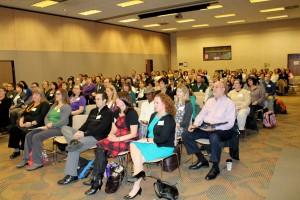 Audience at keynote presentation