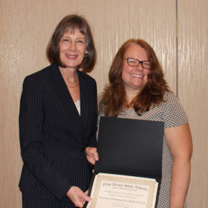 State Librarian Mary Chute & Jennifer Kelly-Maloney, senior children's librarian at Rockaway
