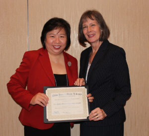 Mimi Hui, director of Hasbrouck Heights, State Librarian Mary Chute