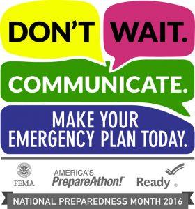 The logo for National Preparedness Month 2016.