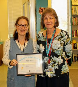Sharon Rawlins, youth services consultant, and State Librarian Mary Chute.